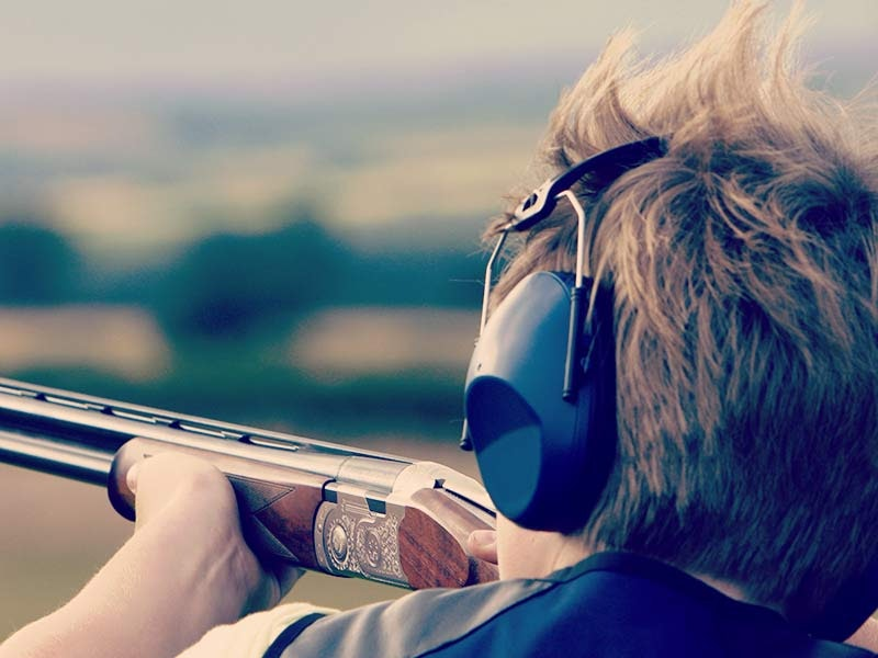 Laser Clay Pigeon Shooting and Paintball Experience