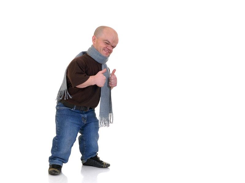 Male midget entertainer