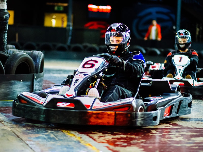 Indoor Go Karting Experience incl. Private Transfer