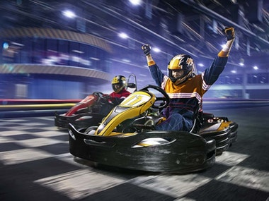 Karting and Laser Tag Combat Experience in Edinburgh