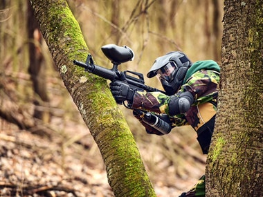 Full Day Paintballing Inc 100 Free Paintballs & Hot Dog Lunch in Newquay