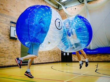 Bubble Football, Burger and Beers Combo in Barcelona