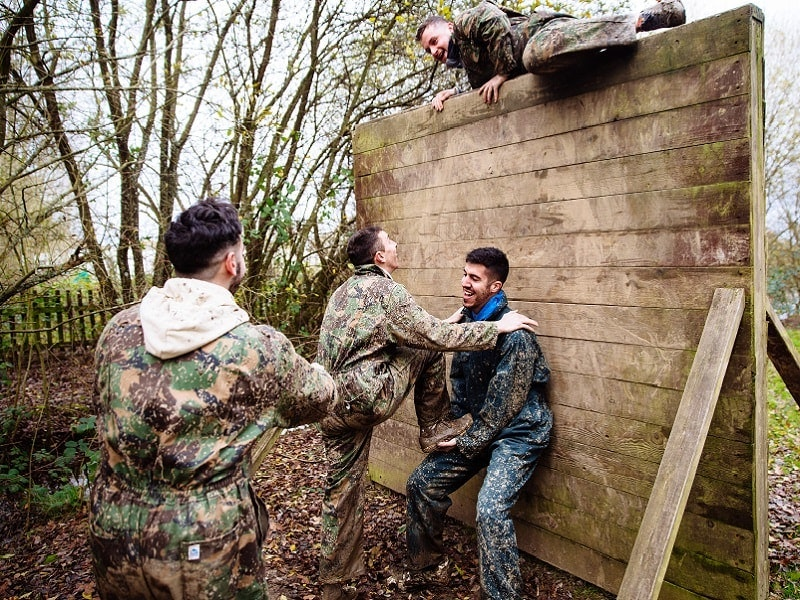 Woodland Assault Course in Cardiff
