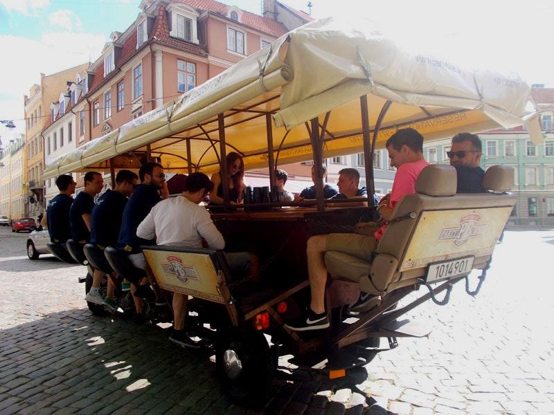 Beer Bike Experience in Riga