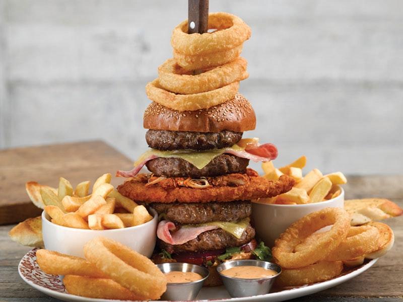 Stag Vs Food Dinner Challenge at Yates