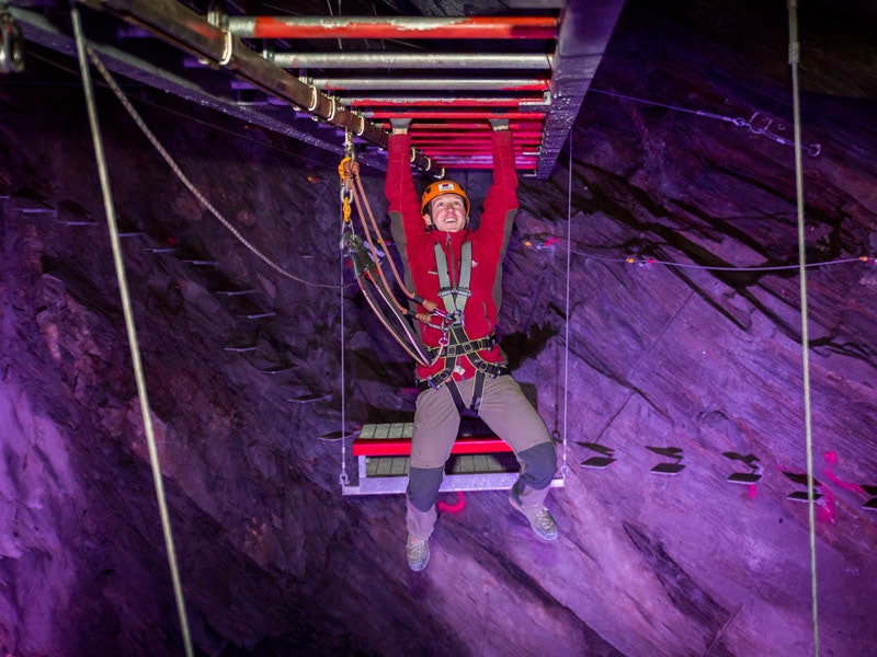 Zip World Caverns in Snowdonia