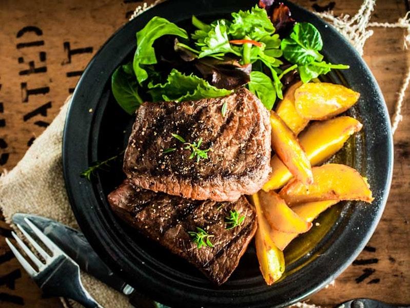 Dinner at Steak House