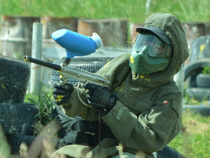 Half Day Paintballing Afternoon Session inc 100 Free Paintballs