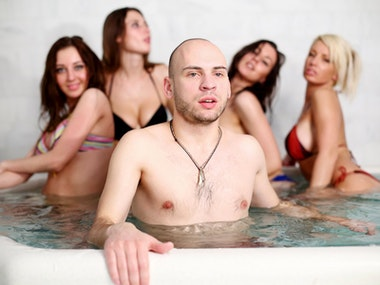 Steam Room Party with Exotic Show in Riga
