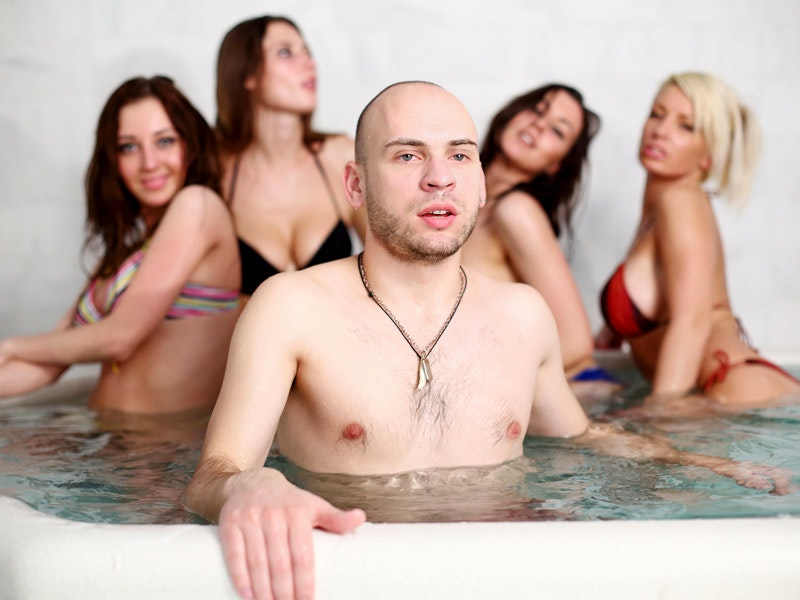 Steam Room Party with Exotic Show