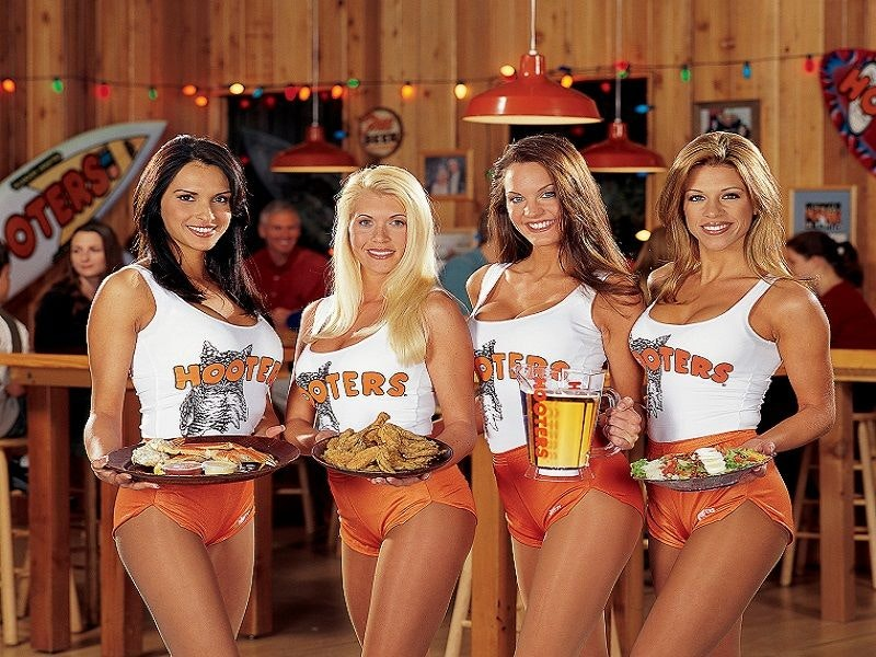 Hooters Meal and Three Beers