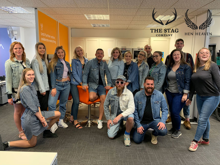 The Stag Company and Hen Heaven team supporting Jeans for Genes 2019