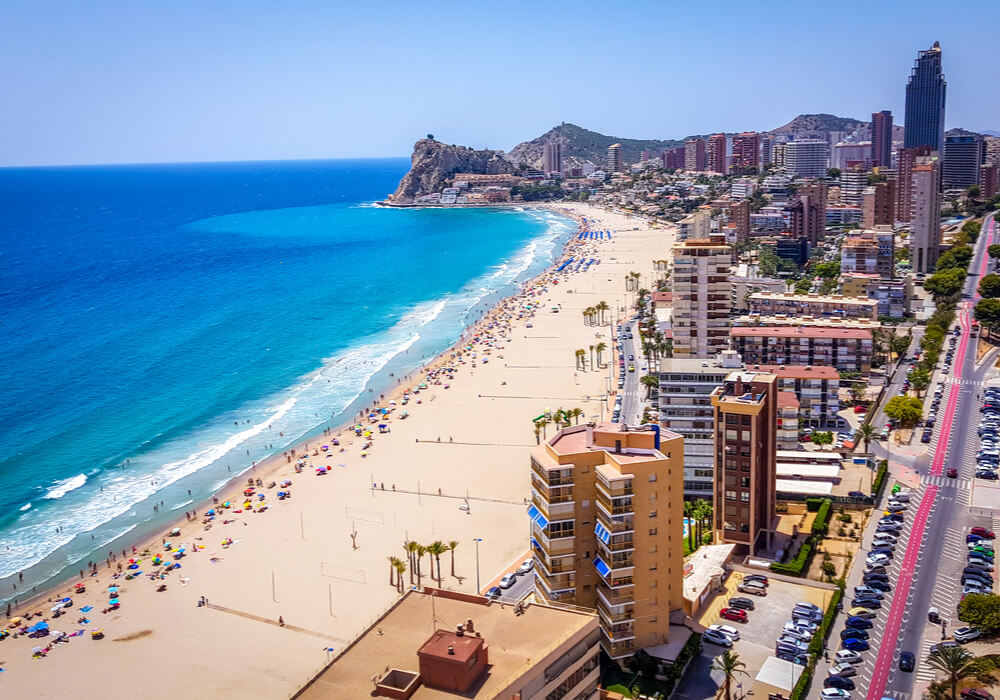 Image of beach and city in Benidorm