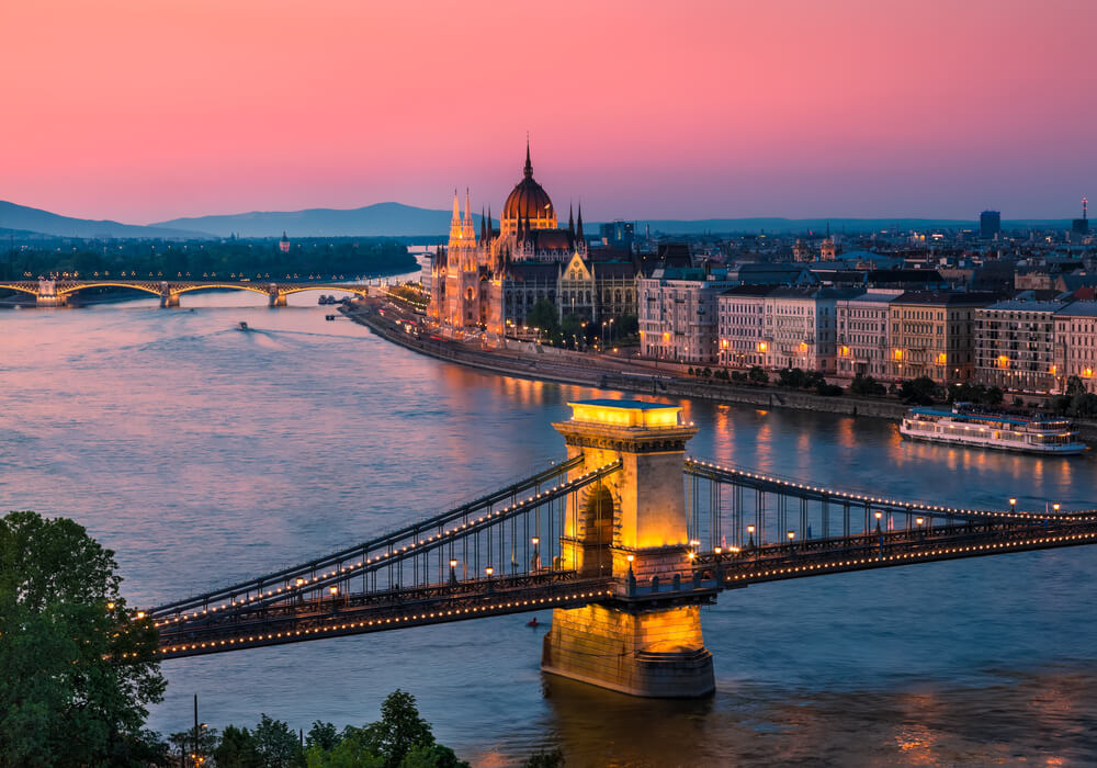 Image of Budapest in the evening