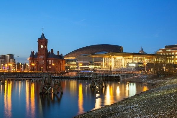 Image of Cardiff in the evening
