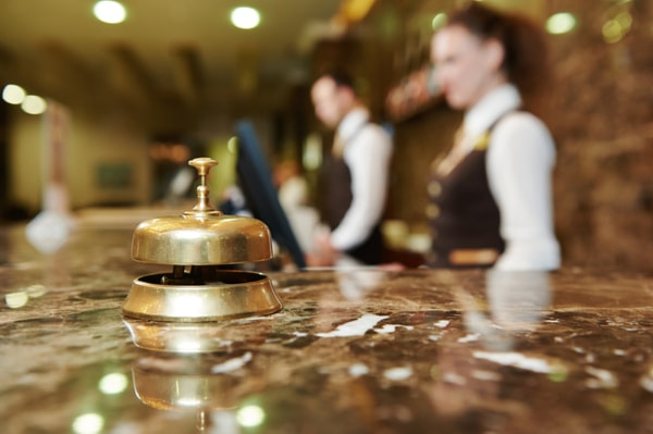 Stag do accommodation hotel desk image