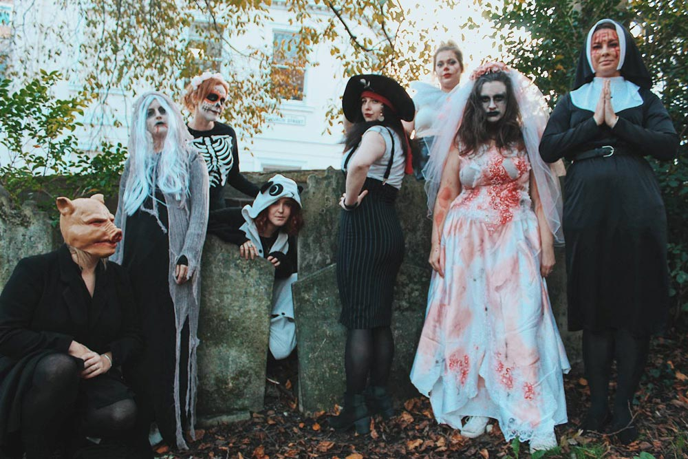 The Stag Company and Hen Heaven team dress in creepy costumes to mark Halloween