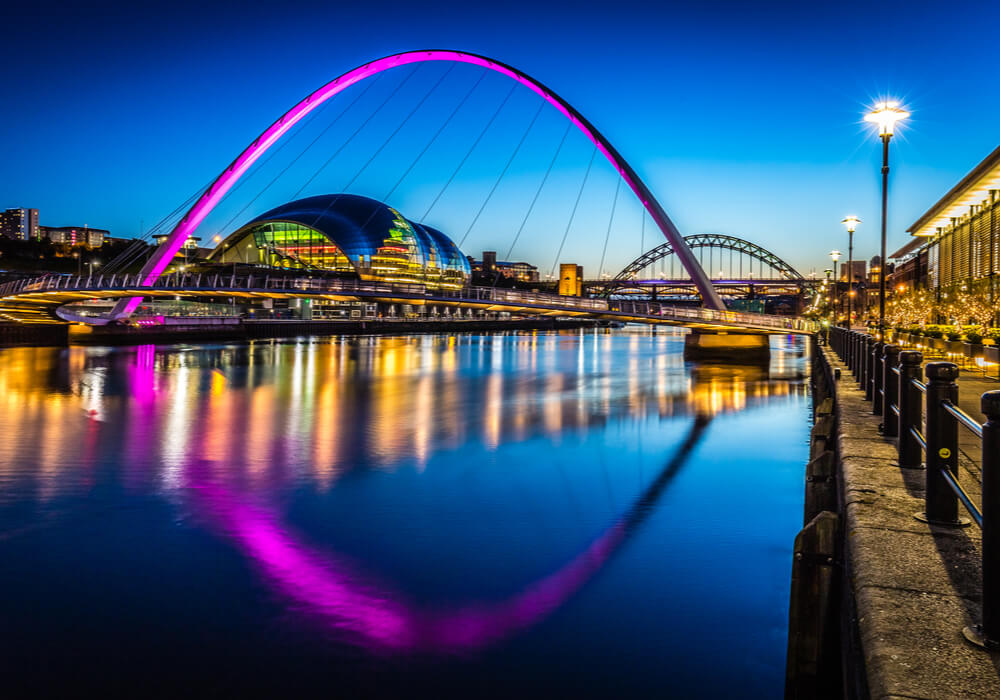 Newcastle in the evening