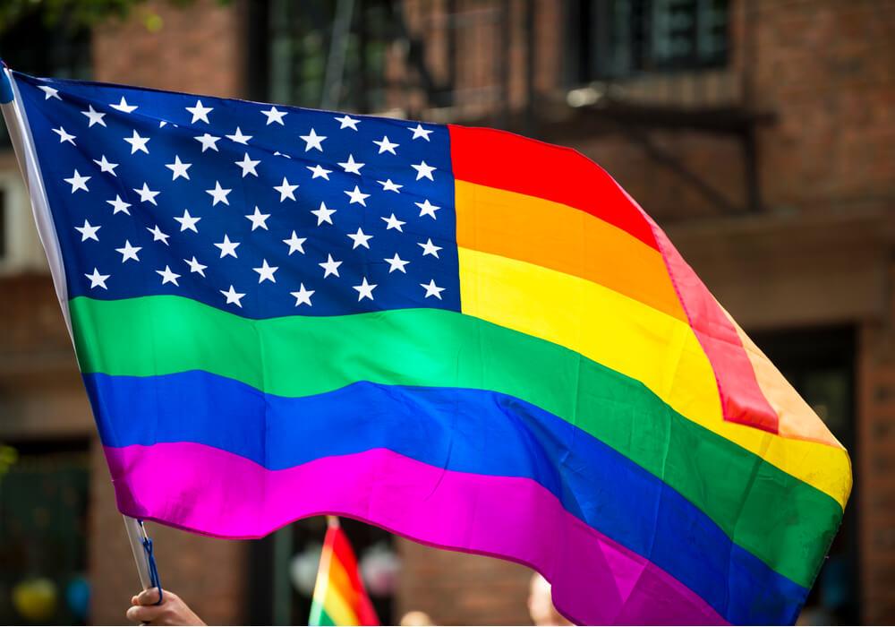 Pride flag at NYC pride
